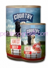 Makanan Kaleng Anjing Country Beef Can 400gr