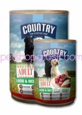 Makanan Kaleng Anjing Country Lamb & Rice Can 400gr