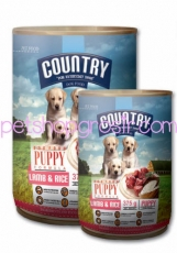 Makanan Kaleng Anjing Country Puppy Lamb & Rice Can 400gr