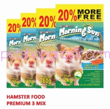 MORNING SUN HAMSTER FOOD PREMIUM 3 MIX 1.2 Kg