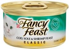 PURINA FANCY FEAST CLASSIC COD,SOLE& SHRIMP FEAST 24 X 85 GR