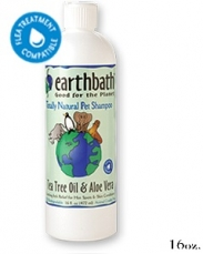 EARTHBATH TEA TREE & ALOE VERA SOOTHING ITC RELIEF FROM PETS