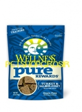 SNACK ANJING GRAIN FREE WELLNESS PURE REWARDS TURKEY & SALMON SNACK 6 OZ