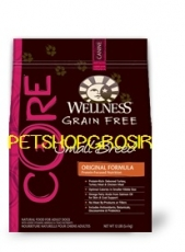MAKANAN ANJING GRAIN FREE WELLNESS CORE FORMULA SMALL BREED 12 LB