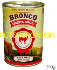 MAKANAN ANJING GRAIN FREE BRONCO BEEF OLIO RECIPE DOG FOOD  GRAIN FREE 390GRAM