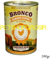 MAKANAN ANJING GRAIN FREE BRONCO CHICKEN OLIO RECIPE DOG FOOD  GRAIN FREE 390 GRAM
