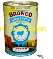 MAKANAN ANJING GRAIN FREE BRONCO LAMB OLIO RECIPE DOG FOOD GRAIN FREE 390GRAM