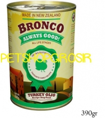 MAKANAN ANJING GRAIN FREE BRONCO TURKEY OLIO RECIPE DOG FOOD GRAIN FREE 390 GRAM