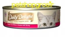 DAILY DELIGHT HAPPY MEALS HAPPIERS PETS SKIP JAKE TUNA WHITE & CHICKEN WITH SHRIMP 80GRAM (DD45)