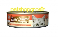DAILY DELIGHT HAPPY MEALS HAPPIERS PETS SKIPJAK TUNA WHITE WITH CARROT IN JELLY 80GRAM (DD51)