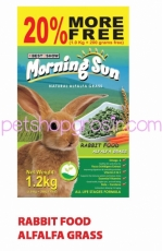 MORNING SUN RABBIT FOOD ALFALFA