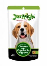 Jerhigh Pouch Chicken & Vegetable in Gravy 120g