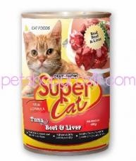 SUPER CAT BEEF & LIVER 400GR
