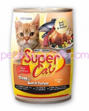 SUPER CAT BEEF & TURKEY 400GR