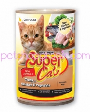 SUPER CAT CHICKEN & VEGETABLE 400GR