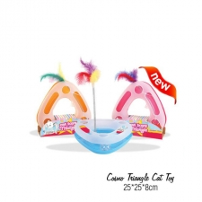 Mainan Kucing Cosmo Triangle Cat Toy 25x25x8cm