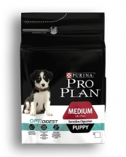 MAKANAN ANJING Pro Plan Medium Puppy Sensitive Digest (Lamb and Rice) 12kg
