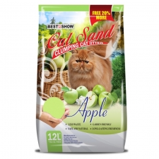 Pasir Kucing Best in Show Cat Sand Clumping Apple 12 Liter
