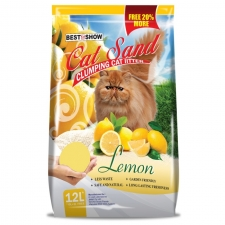 Pasir Kucing Best in Show Cat Sand Clumping Lemon 12 Liter