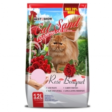 Pasir Kucing Best in Show Cat Sand Clumping Rose Bouguet 12 Liter
