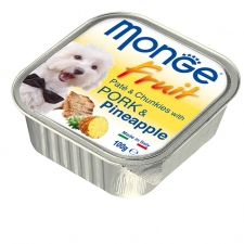 Makanan Basah Anjing Monge Fruit Pate and Chunkies with Pork and Pineapple 100gr