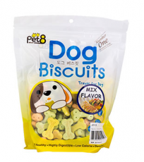 Pet8 Dog Biscuit Mix Flavor 400gr