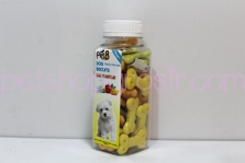Snack Anjing Pet8 Dog Biscuits Mix Flavour 110gr (tulang)