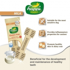 Snack Anjing Happi Doggy Dental Care Milk Gluten Free