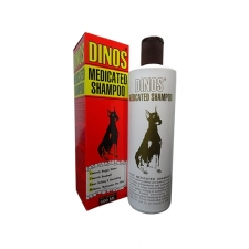 Shampoo Anjing Gatal Dinos Medicated Shampoo 500mL