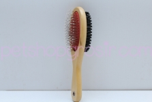 Sisir Best In Show Two Sided Timber Brush L