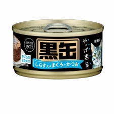 Makanan Kucing Aixia BCM7 Kuro-can Mini Tuna and Skipjack with Whitebait 80gr
