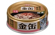 Makanan Kucing Aixia GCM33 Kin-can Mini Tuna with Salmon 70gr
