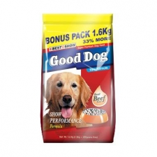 Makanan Anjing Best In Show Good Dog Dry Food Beef Show Performance 1.6kg