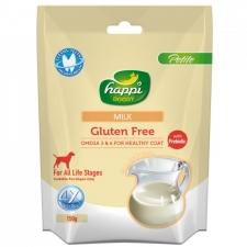 Snack Anjing Happi Doggy Dental Chew Petite Gluten Free Milk 150g