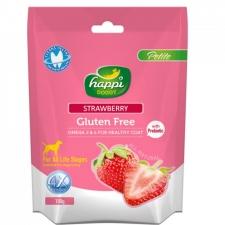 Snack Anjing Happi Doggy Dental Chew Petite Gluten Free Strawberry 150g