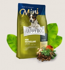 Makanan Anjing Happy Dog Supreme - Mini Adult Neuseeland (Lamb Rice) GLUTEN FREE 1kg