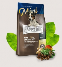 Makanan Anjing Happy Dog Supreme - Mini Adult Canada Grainfree (Salmon, Lamb, Rabbit) 1kg
