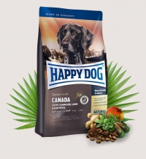 Makanan Anjing Happy Dog Supreme Sensible Canada (Salmon, Lamb, Rabbit) Grainfree 12.5kg