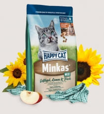 Makanan Kucing Happy Cat Minkas Mix (Poultry, Lamb & Fish) 1.5kg