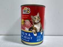 Makanan Basah Kucing Pet8 Tuna in Jelly 400gr