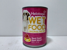 Makanan Basah Anjing Helotage Wet Food Original Recipe Beef 375gr