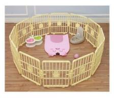 Kandang Pagar Anjing Kucing Smart Fence Safety Zone Tanpa Pintu 37cm x 31cm 12pcs
