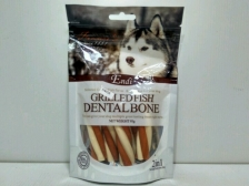 Snack Anjing Endi Grilled Fish Milk Dental Twist 95gr