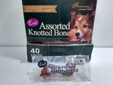 Snack Anjing Endi Assorted Knotted Bone Beef & Vegetable (Harga per pc)