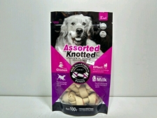 Snack Anjing Endi Assorted Knotted Dental Bone Milk & Chicken 100gr