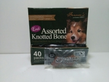 Snack Anjing Endi Assorted Knotted Bone Chicken & Egg Yolk Bones (Harga per pcs)