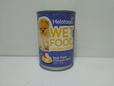 Makanan Basah Anjing Helotage Wet Food Original Recipe Chicken 375gr