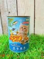 Super Cat Baby Kitten Tuna & Minced Chicken 400gr