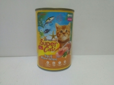 Super Cat Tuna & Minced Salmon for Kitten 400gr