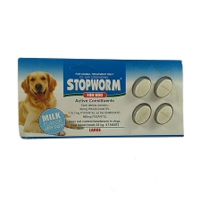 Obat Cacing Anjing Stopworm Milk Flavor For Dog Large  4 Tab